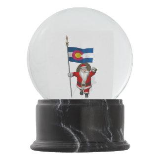 コロラド州を訪問している愛国心が強いサンタクロース スノーグローブ