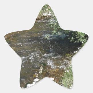 コロラド州山の流れ 星シール