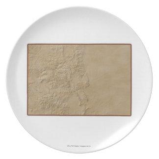 コロラド州2の地形図 プレート