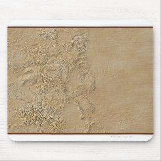 コロラド州2の地形図 マウスパッド