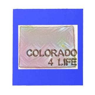 """""""コロラド州4生命""""の州の地図のプライドのデザイン ノートパッド"""