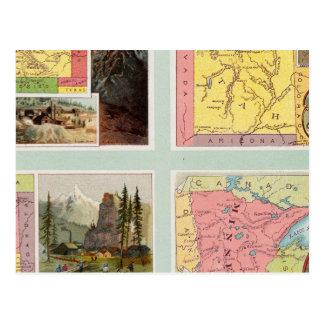 コロラド州、ユタ、モンタナ、ミネソタ ポストカード