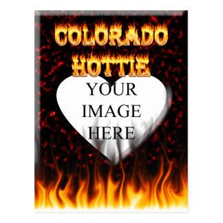 コロラド州Hottieの火および炎 ポストカード