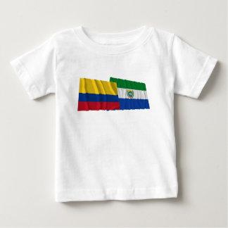 コロンビアおよびGuaviareの振る旗 ベビーTシャツ