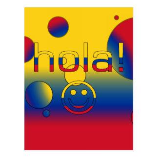 コロンビアのギフト: こんにちは/Hola + スマイリーフェイス ポストカード
