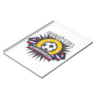 コロンビアのサッカーの破烈 ノートブック