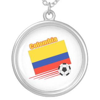 コロンビアのサッカーチーム シルバープレートネックレス