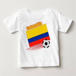 コロンビアのサッカーチーム ベビーTシャツ