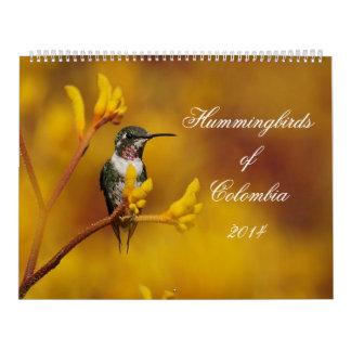 コロンビアのハチドリ カレンダー