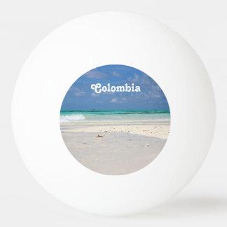 コロンビアのビーチ 卓球ボール