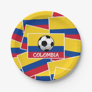 コロンビアのフットボール ペーパープレート