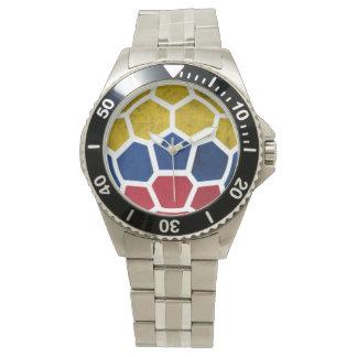 コロンビアのワールドカップのサッカー(フットボール)の腕時計 腕時計