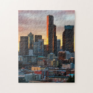 コロンビアの中心および都心のシアトル、シアトル ジグソーパズル