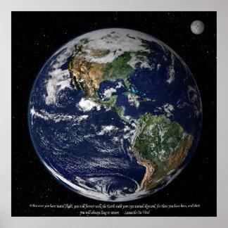 コロンビアの宇宙飛行士への献呈 ポスター