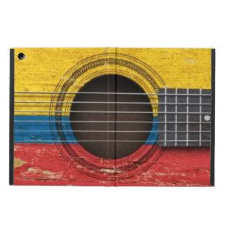 コロンビアの旗が付いている古いアコースティックギター iPad AIRケース