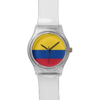 コロンビアの旗が付いている愛国心が強い子供の腕時計 腕時計