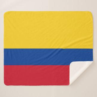コロンビアの旗が付いているSherpa愛国心が強い毛布 シェルパブランケット