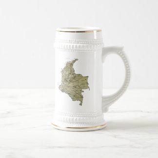 コロンビアの旗の~の地図のマグ ビールジョッキ