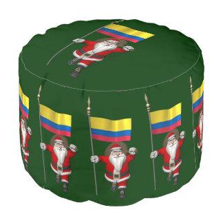 コロンビアの旗を持つサンタクロース プーフ
