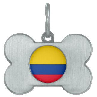 コロンビアの旗 ペットネームタグ