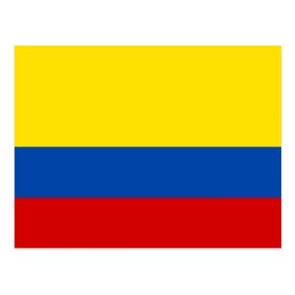 コロンビアの旗 ポストカード
