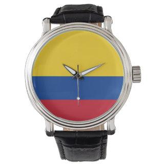 コロンビアの旗 腕時計