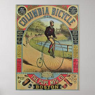 コロンビアの自転車のための広告 ポスター