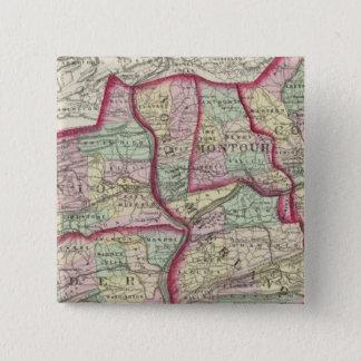 コロンビアの連合、Snyder、Montour 5.1cm 正方形バッジ