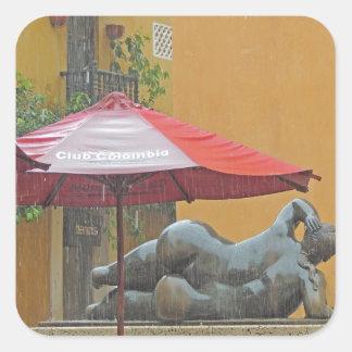 コロンビアの雨の彫像 スクエアシール