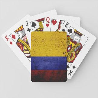 コロンビアの黒くグランジな旗 トランプ