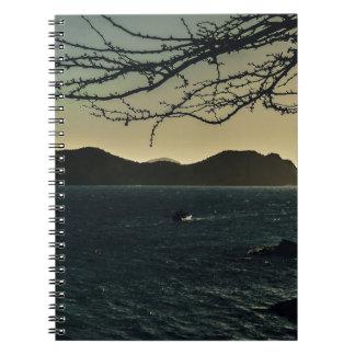 コロンビアのTaganga湾の景色の空中写真 ノートブック