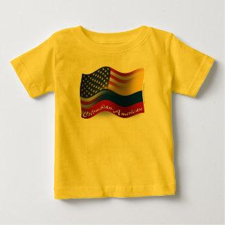 コロンビアアメリカの振る旗 ベビーTシャツ