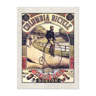 コロンビア周期のヴィンテージの自転車に乗ること キャンバスプリント