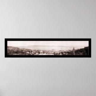 コロンビア川Astoriaの写真1915年 ポスター