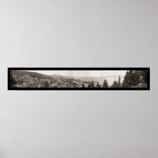 コロンビア川Astoria、オレゴンのの口写真1914年 ポスター