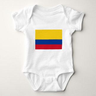コロンビア- Bandera deコロンビアの旗 ベビーボディスーツ