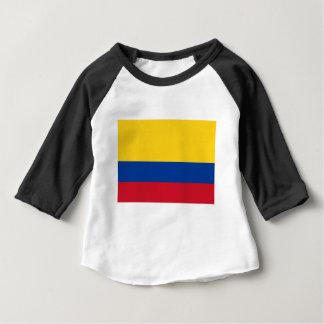 コロンビア- Bandera deコロンビアの旗 ベビーTシャツ