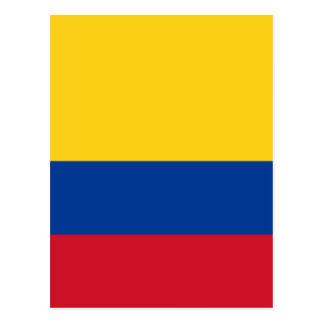 コロンビア- Bandera deコロンビアの旗 ポストカード