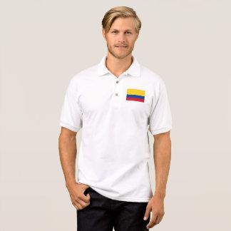 コロンビア- Bandera deコロンビアの旗 ポロシャツ