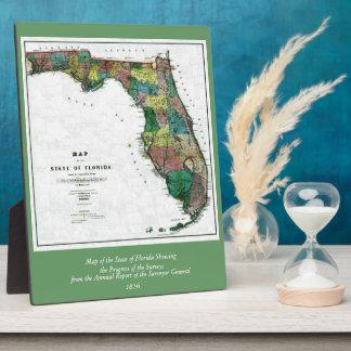 コロンブスによるフロリダ州の1856地図は引きました フォトプラーク