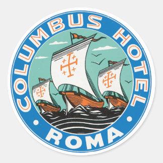 コロンブスのホテルローマ ラウンドシール