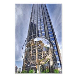 コロンブスの円の世界の地球 フォトプリント