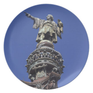コロンブスの彫像、バルセロナ プレート