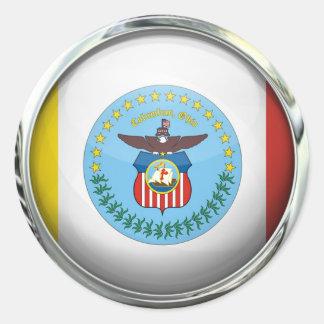 コロンブスの旗のガラス玉 ラウンドシール