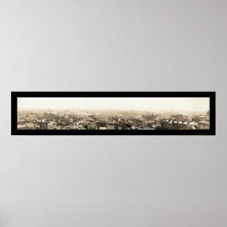 コロンブスの洪水、オハイオ州の写真1913年 ポスター