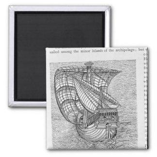 コロンブスのTimeの船 マグネット