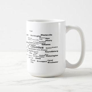 コロンブスオハイオ州の近隣のマグ(黒) コーヒーマグカップ
