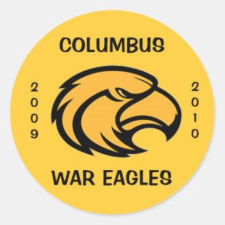 コロンブス戦争のイーグルスのステッカー2009-2010年 ラウンドシール