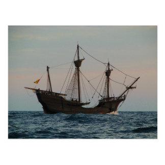 コロンブス時代の船 ポストカード