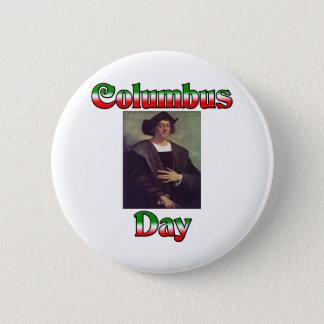 コロンブス記念日 5.7CM 丸型バッジ